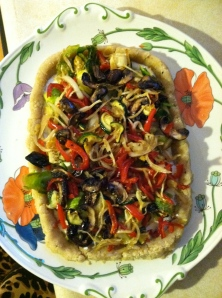 "Raw ""Roasted"" Veggie Tart"